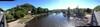uitzicht vanaf de brug (camping links)