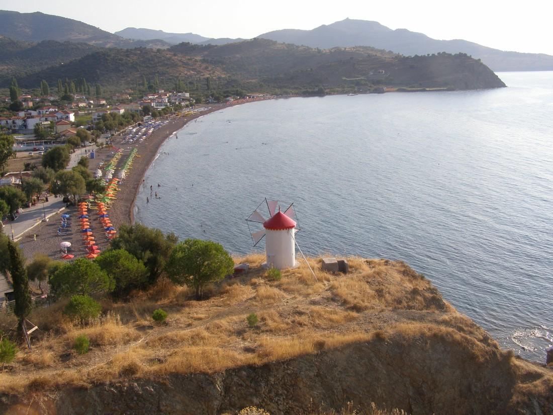 mooiste stranden Lesbos: Anaxos