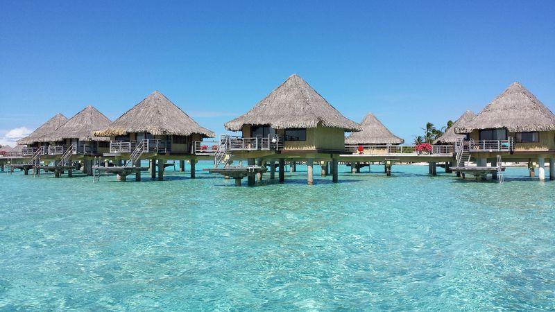 hotel intercontinental le moana bora bora in bora bora, eilanden in