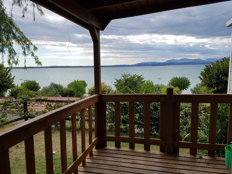 uitzicht Maxicaravan Lago de Luxe